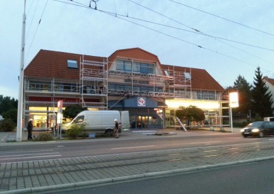 montaz rusztowan budynek komercyjny